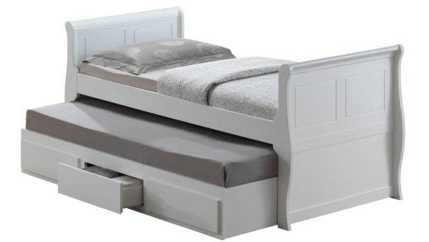 Wooden Oasis Guest Bed Single White Mattresses Ebay