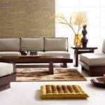 Wooden Sofa Designs Asian Themed Living Room Decor