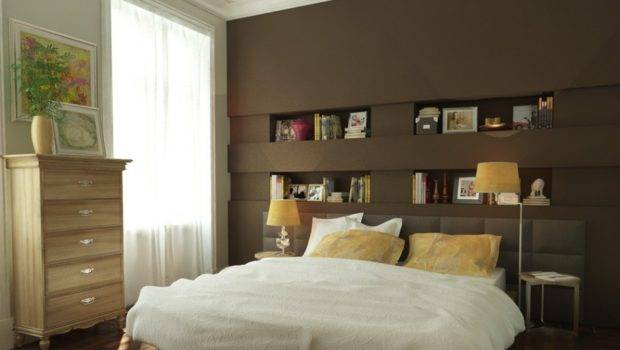 Wooden Wardrobe Brown Wall Simple Sitting Lamp Good Bedroom Colors