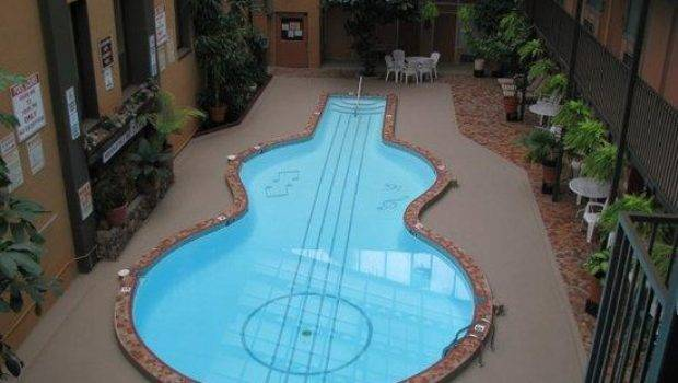 World Coolest Guitar Shaped Pool Right Here