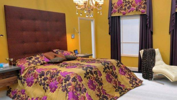 Yellow Bedroom Luxurious Contemporary Master