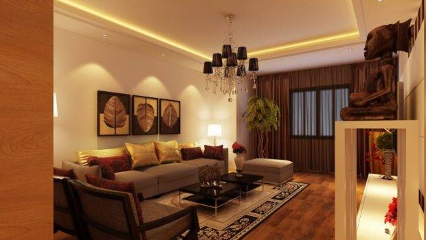 Yellow Brown Living Room Decorating Ideas
