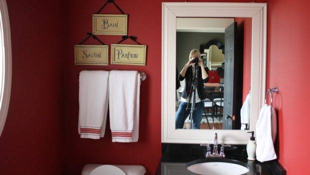 Yellow Cape Cod Powder Room Makeover Sherwin Williams