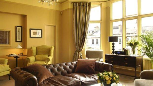 Yellow Living Room Curtains Wall Paint Color Ideas