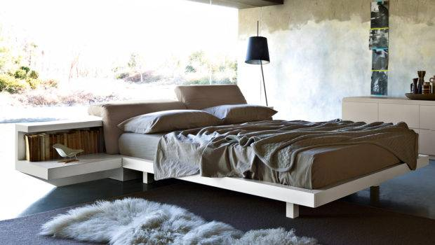 Zanette Morfeo Bed Adjustable Headboard Attached Bedside Tables