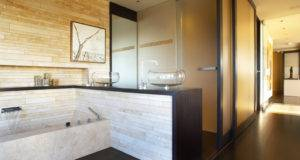 Zen Bathroom Luxury Apartment California Incorporating Panoramic
